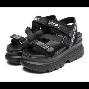 BRAND NEW Veltura Raw Basso platform sandals